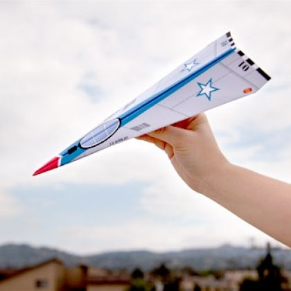 FREE Full Throttle Paper Airplane~ Kids will love making this printable jet paper airplane. Teachers could use it as part of an explanatory/expository writing activity.  First students make it, then they describe the steps for making it.