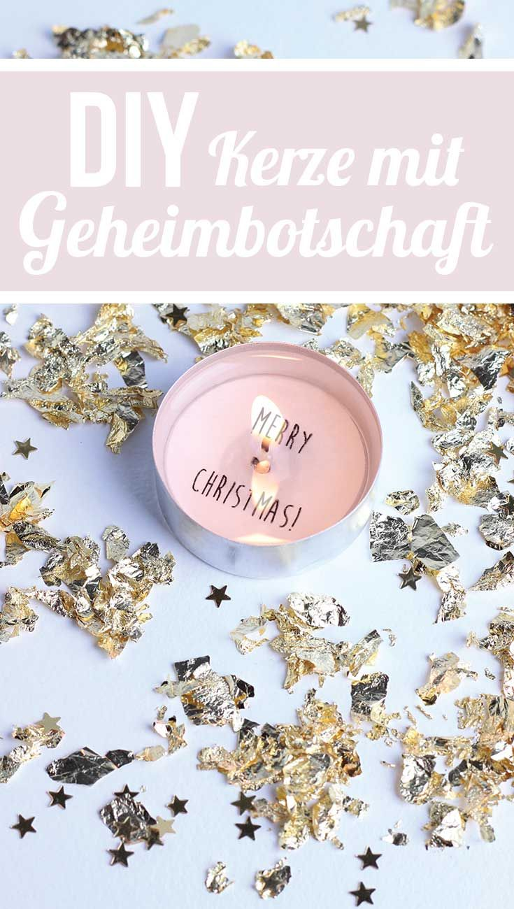 DIY Kerze mit Geheimbotschaft: Merry Christmas & New Years Eve Party Idea! Secret message in a candle | Holidays & Silvester
