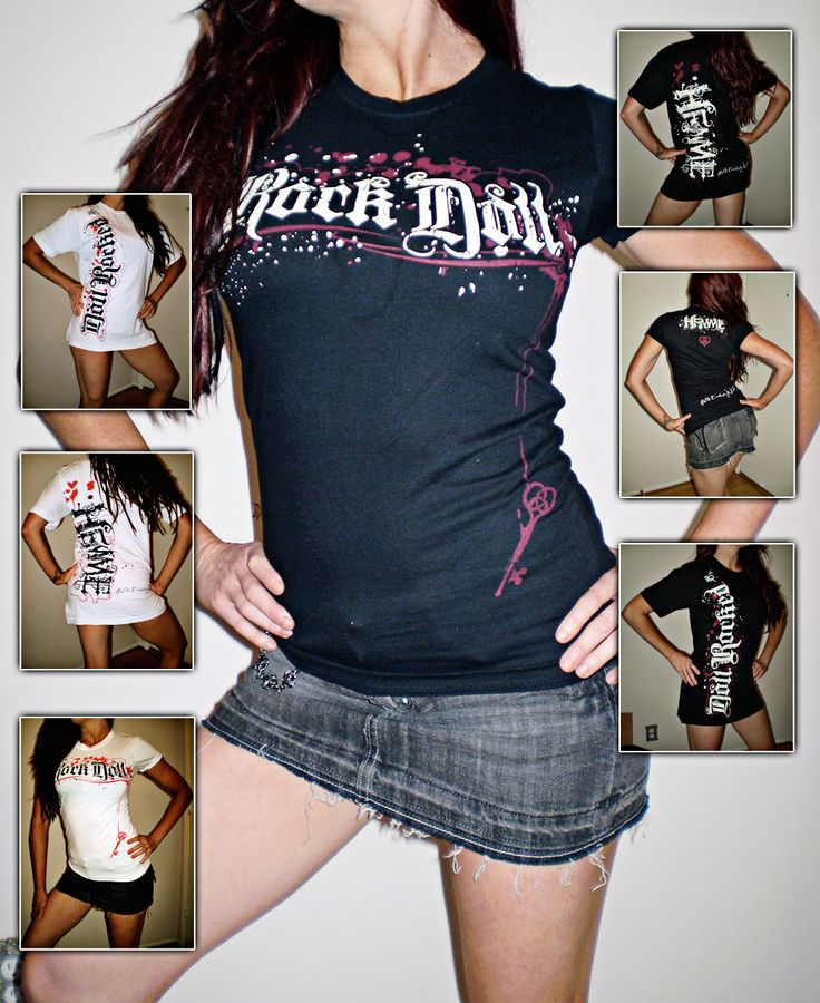 T-shirt designs for Christy Hemme's band 'Hemme'