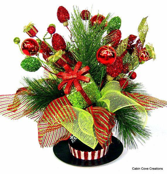 Top Hat Centerpiece Floral Arrangement By