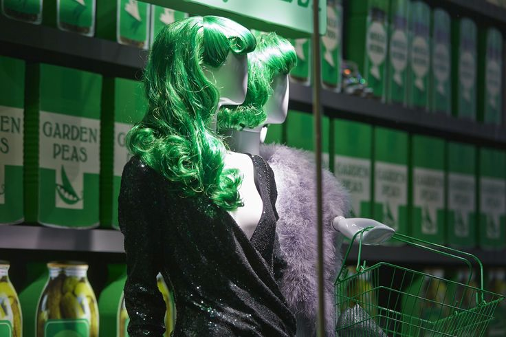 The winter green trend is gorgeous deep colours for winter #Green #Winter #VM #Fashion #Display