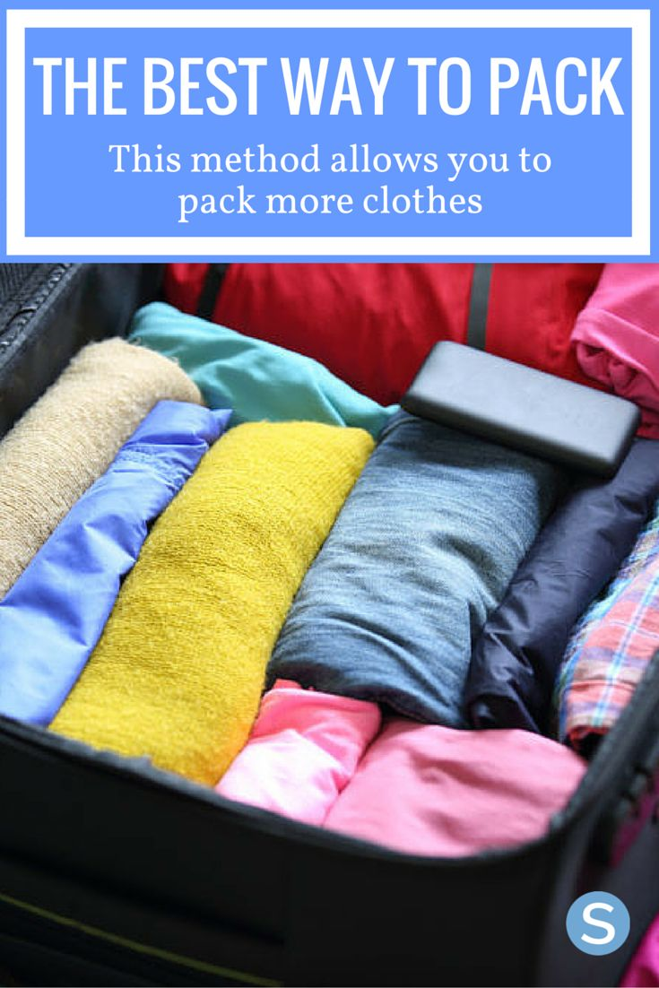 This is the best and easiest packing technique we've seen! You must try this for the next trip you take! http://www.simplemost.com/womans-folding-technique-will-either-change-way-pack-forever/?utm_campaign=social-account&utm_source=pinterest.com&utm_medium=organic&utm_content=pin-description