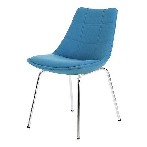 Joy - Chaises-Tables, Chaises Chaise bleu turquoise avec piétement en métal