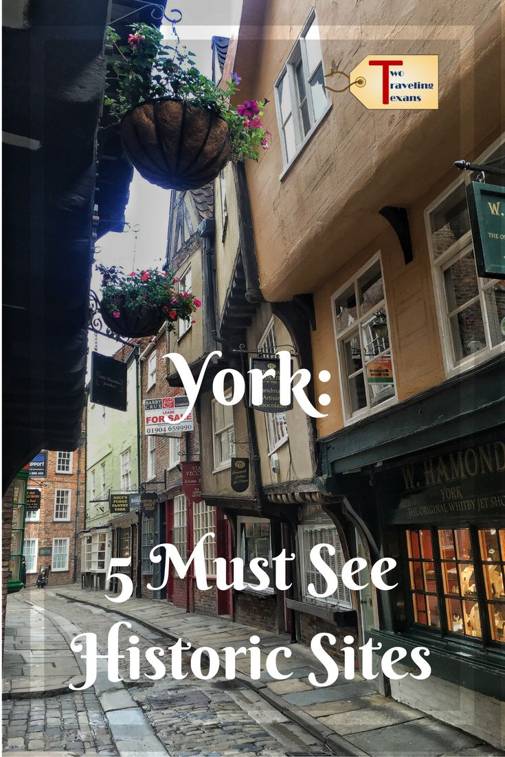 A travel blog about the five must see historic sites we visited in lovely York, England on the last day of our UK road trip. via @2travelingtxns