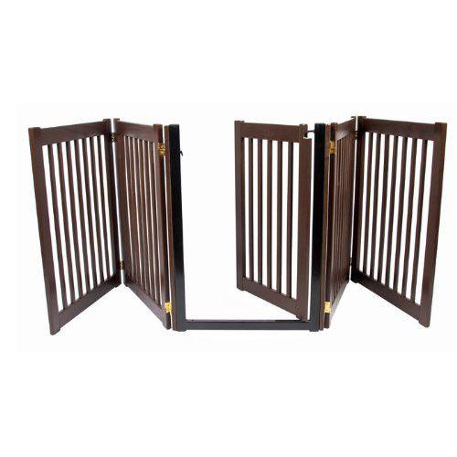 Extra Wide Freestanding Dog Gate with Door
