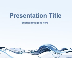 Free PowerPoint Template for Water Conservation presentations #nature #powerpoint #template free download
