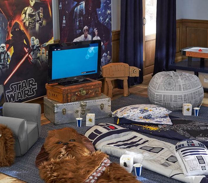 These plush sleeping bags are full of character. Each one adds action-ready design and stellar comfort to their Star Wars™ sleepover. Click for a chance to win the R2D2™ sleeping bag and pillow!