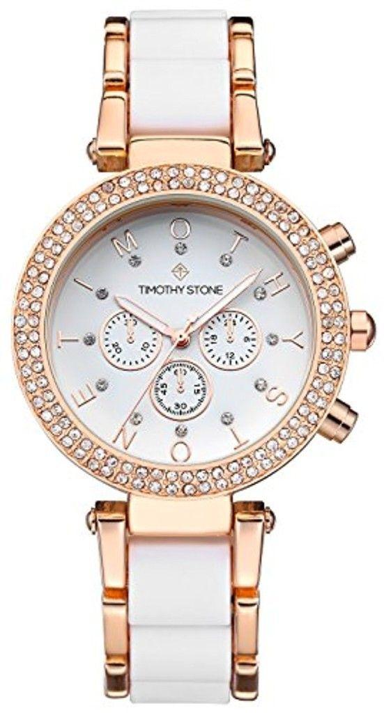 Timothy Stone - DÉSIRE - Montre Femme - Or rose, Blanc 2017 #2017, #Montresbracelet http://montre-luxe-femme.fr/timothy-stone-desire-montre-femme-or-rose-blanc-2017/