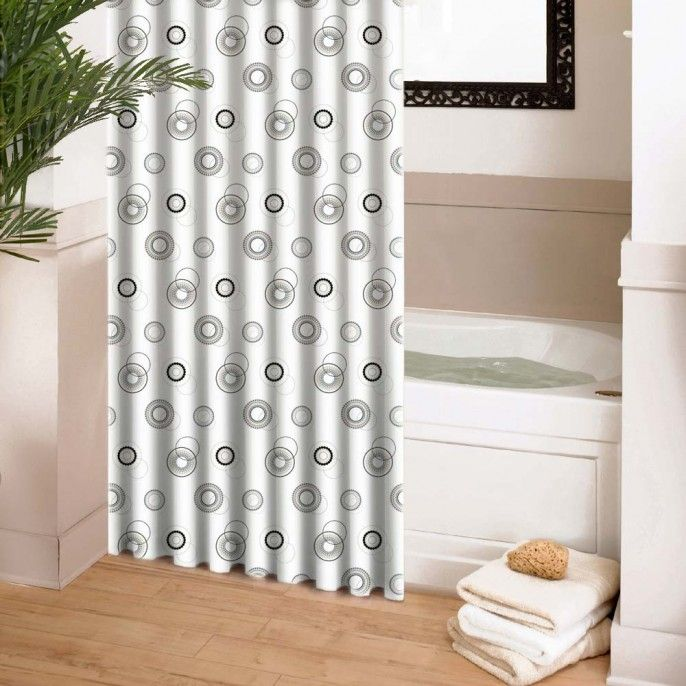SPIRALLED SHOWER CURTAIN - Bathroom - Home & Furniture | Poundstretcher