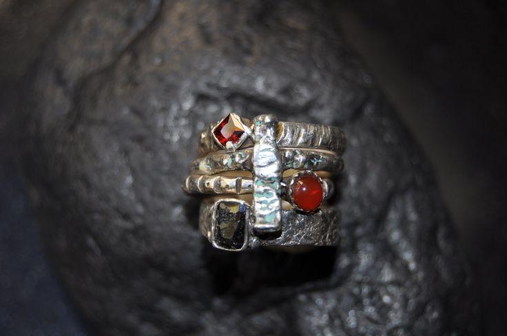 PMC stacking rings - by VAN VUUREN Designs