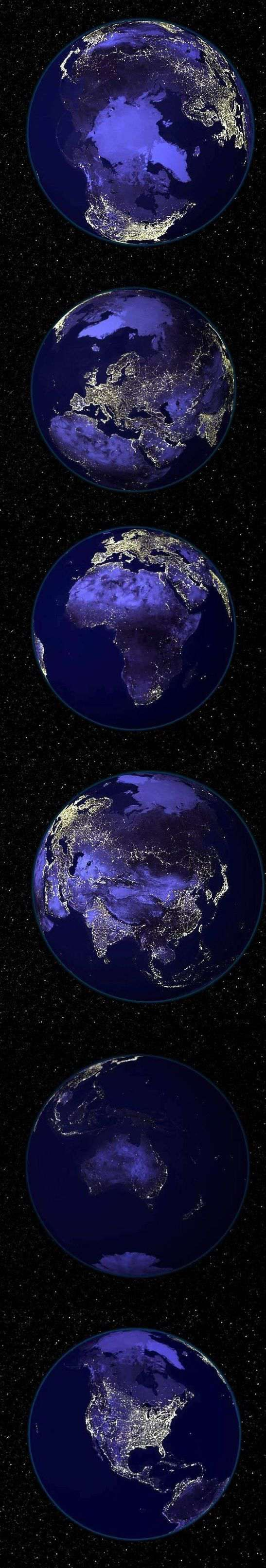 planet earth from space at night - photo #45