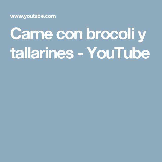 Carne con brocoli y tallarines - YouTube