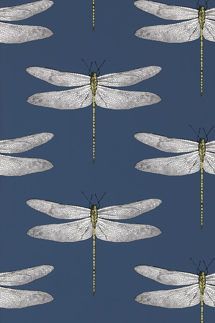 Bring nature inside with this beautiful dragonfly wallpaper it is like a work of art.