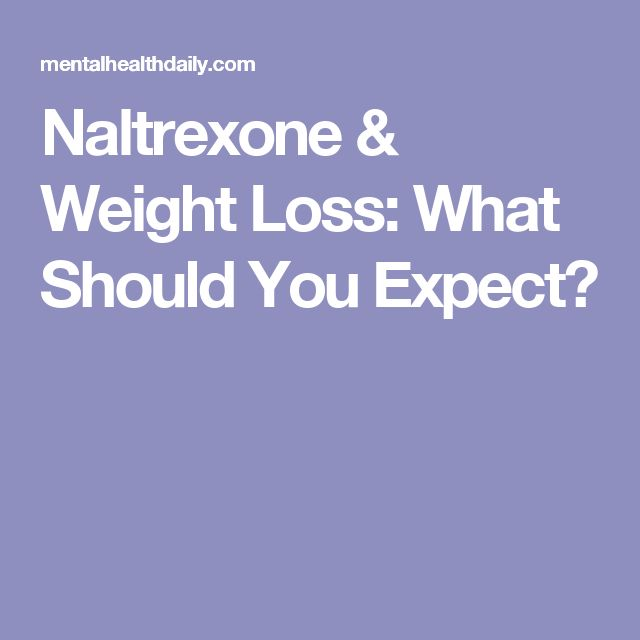 Naltrexone Dose For Weight Loss