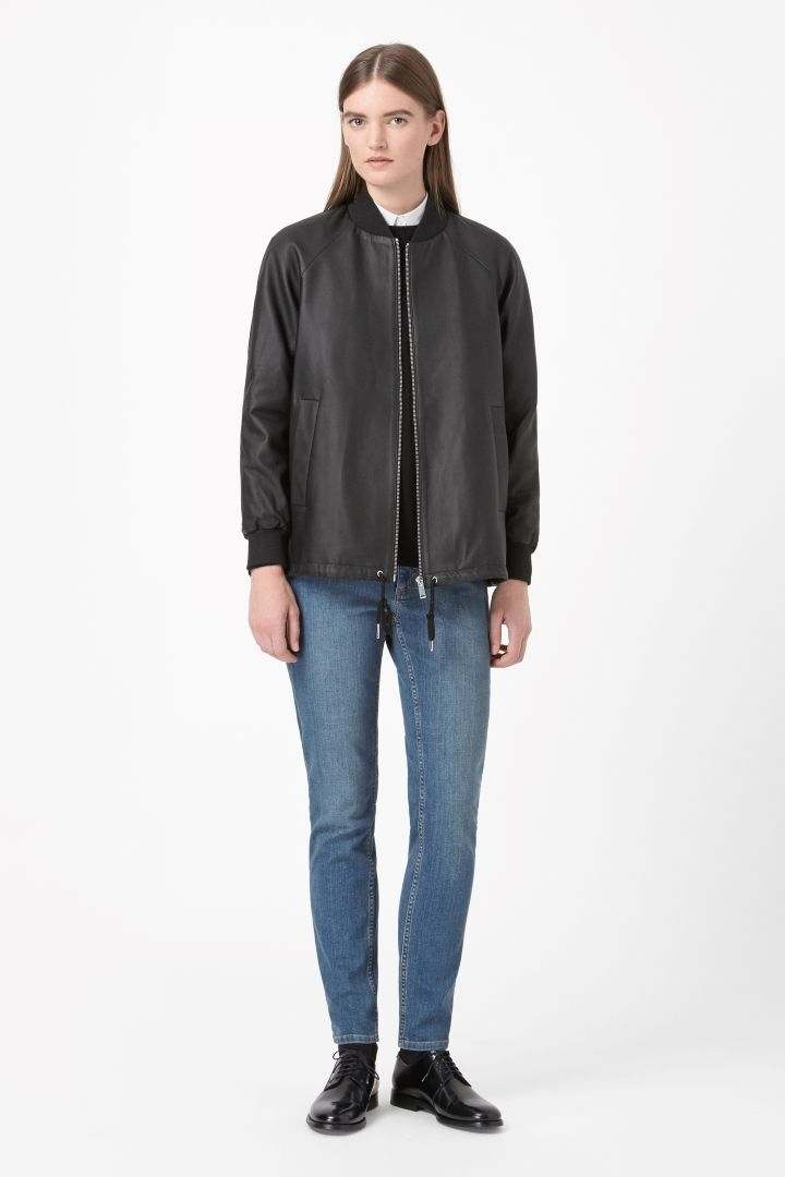 COS | A-line leather jacket