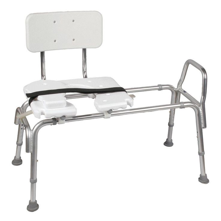 Dmi Heavy Duty Sliding Transfer Bench With Cut Out Seat In