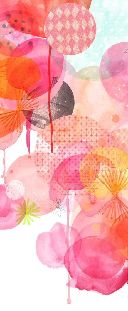 Amy Borrell Print 1 (detail), The Big Bang  by Amy Borrell ~ via Little Paper PlanesInspiration, Amyborrel, Amy Borrel, Colors Schemes, Big Bangs, Pattern Art, Prints, Watercolors Pencil, Paper Planes