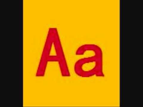 Apprendre l'alphabet. Chanson pour enfants. Lettre A