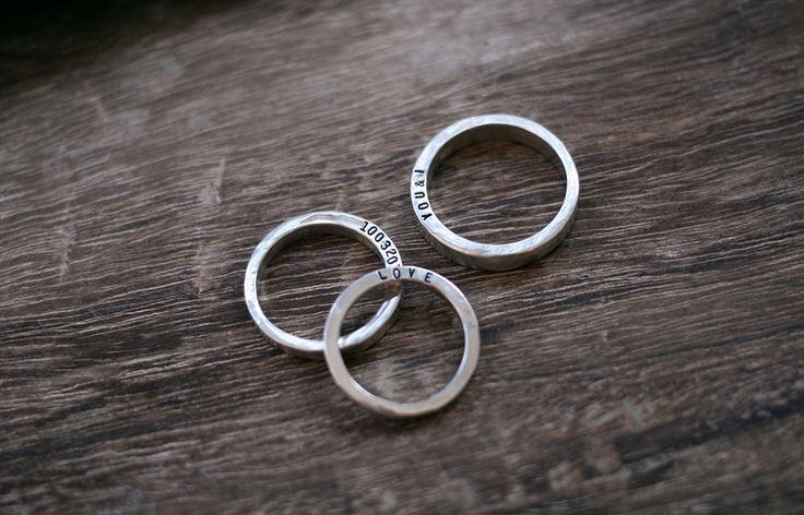 [키스앤텔] Hand stamped brillant ring