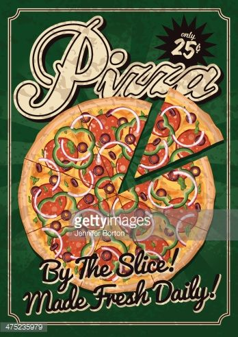 vintage pizza ad poster - Google Search