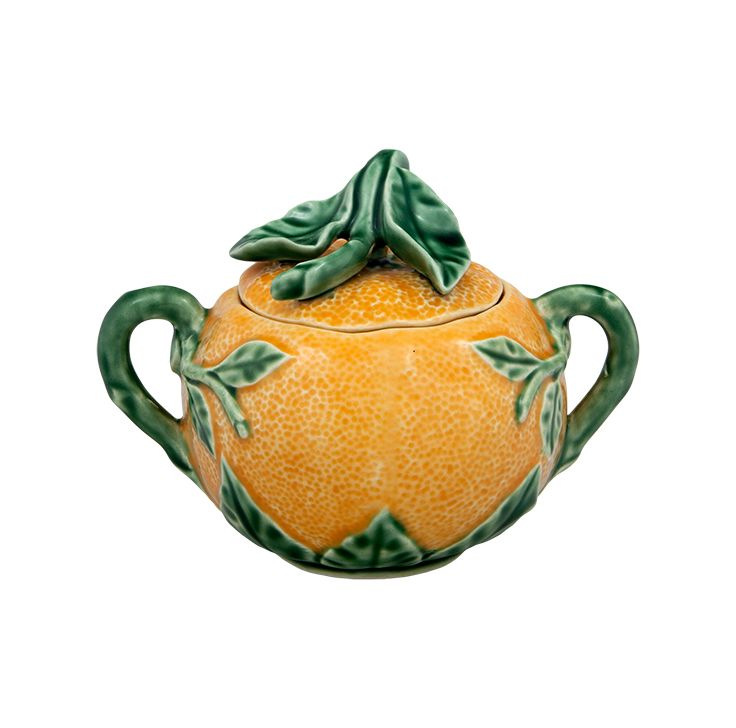 ORANGE sugar pot
