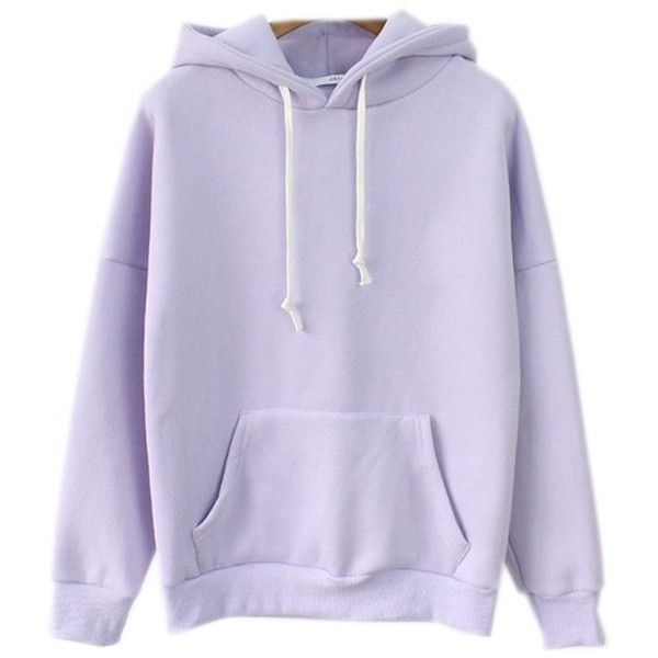 Cute Harajuku Pastel Lavender Hoodies Sweatshirts for Womens at ...