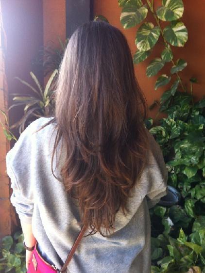 long layered v shape hair cut @Elinor Morris Morris Morris Morris Morris Logan My personal favorite for you  K C. Ellie