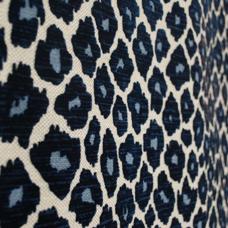 Simba Navy Blue Chenille Upholstery Fabric SKU U9445 in
