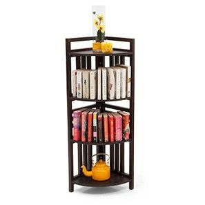 Thales 4-Shelf Corner Display (Mahogany Finish)
