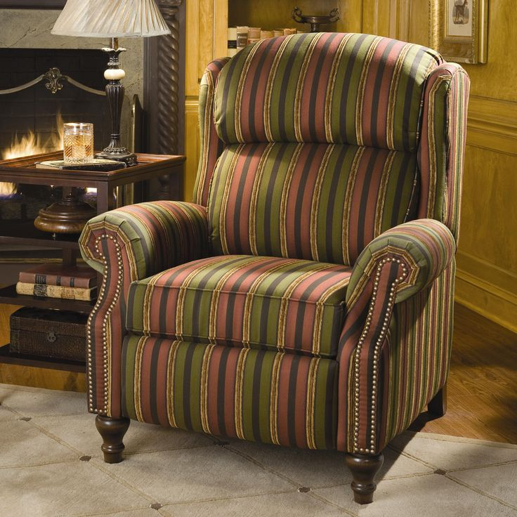 Recliners Traditional Reclining Chair by Smith Brothers at Saugerties Furniture Mart - Beautifully tailored stripes on a super comfy recliner with an ... & 12 best Recliners images on Pinterest | Recliners Brother and Sofas islam-shia.org