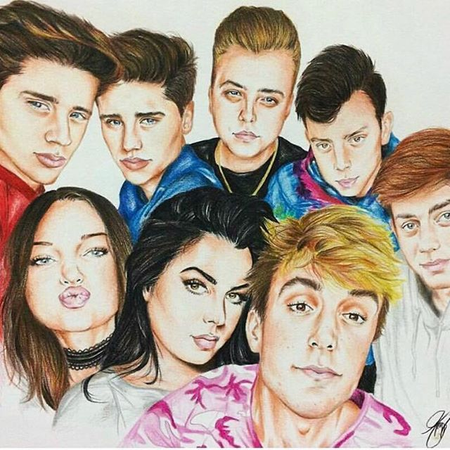 This is amazing. Jake Paulers have raw talent// this is very good but Nick, Anthony, and Erika's face shapes are wrong :)