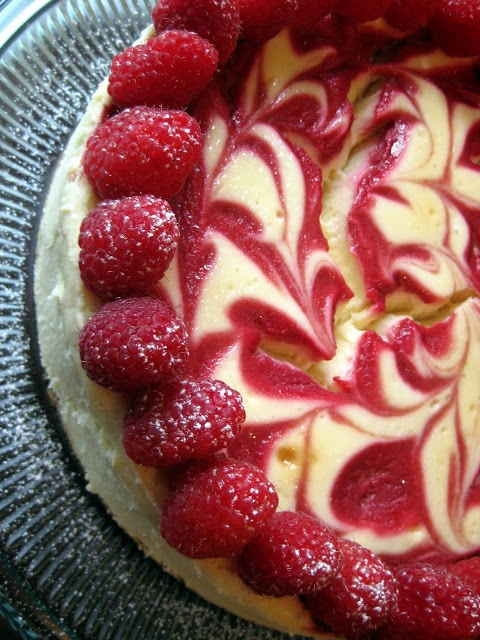 hint of honey raspberry swirl cheesecake more cheesecake desserts ...