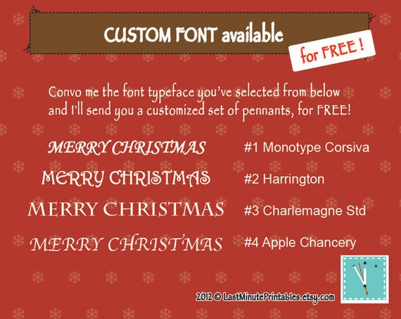 Christmas template christmas banner banner by LastMinutePrintables, $2.29