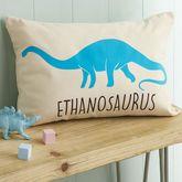 Personalised Velveteen Dinosaur Children's Cushion