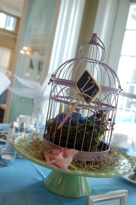 Mini birdcage centerpieces - photo#11