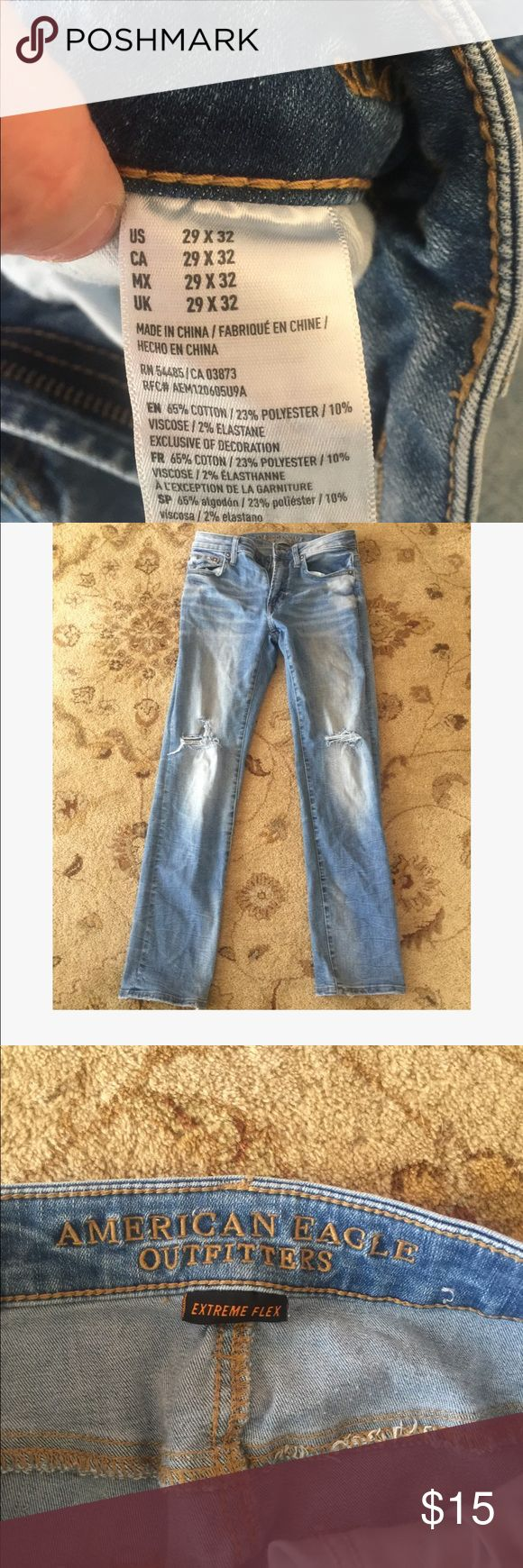 American Eagle men's jeans Extreme flex jeans, worn only a few times Pants Straight Leg