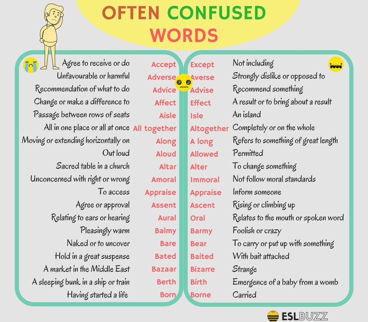 The English language is full of words that English learners - and even native English speakers - often confuse
