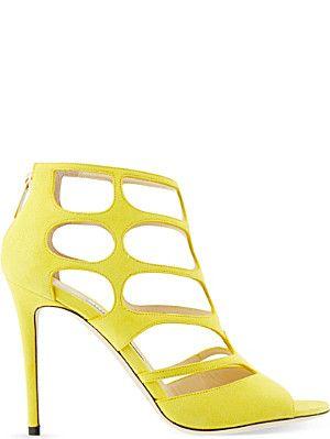 JIMMY CHOO Ren 100 suede heeled sandals