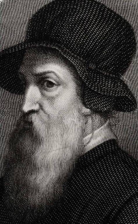 Retrato de Benvenuto Cellini por Giorgio Vasari
