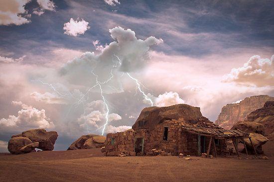 american southwest scenery | Bo Insogna › Portfolio › Southwest Desert Landscape Indian House ...