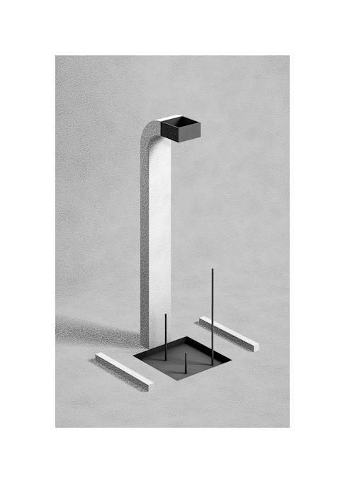 Fabrice Le Nezet / Monolith #illustration #design #print #3D