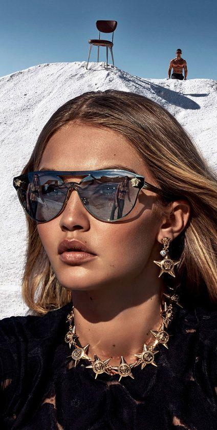 fdc0dbabc Gigi Hadid for Versace sunglasses | EyeWearThese | #versace #sunglasses  #gigihadid #fashion