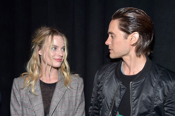 Jared Leto and Margot Robbie Photos - Actress Margot Robbie (L) and actor Jared Leto attend CinemaCon 2016…