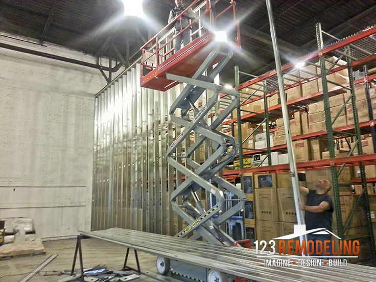 Commercial construction of a warehouse in Chicago. For more remodeling photos, visit:  http://123remodeling.com