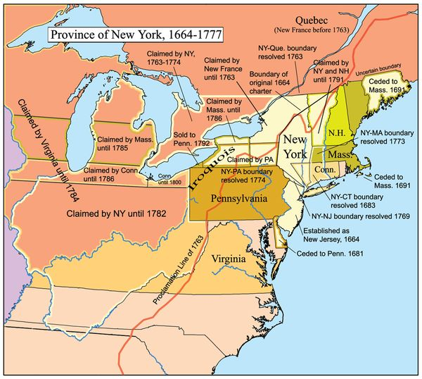 The Province Of New York 1664 1783 Was An English And Later British