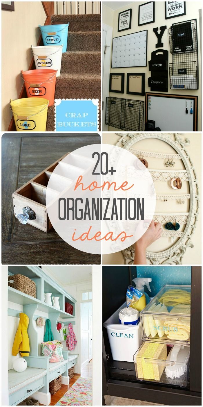 20+ Home Organization Ideas - Perfect for getting reorganized at the beginning of the New Year!