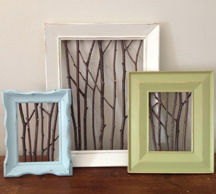 stick frames combine handmade and repurposed into beautiful wall decor for your home - Diy Custom Framing