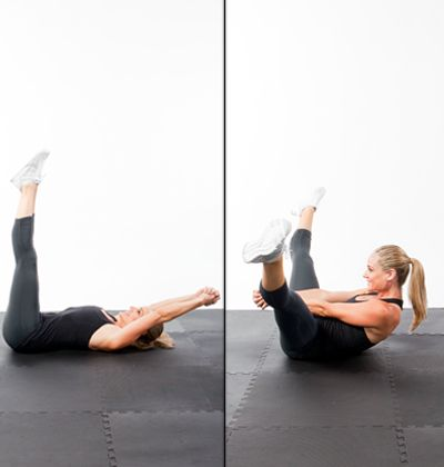 Abs Workout: 5-Minutes to a Flat Stomach - from Shape