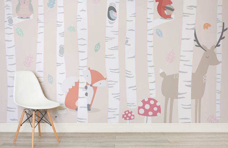 kids-woodland-scene-room