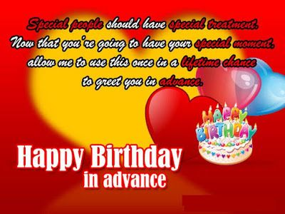 funny happy birthday in advance wishes